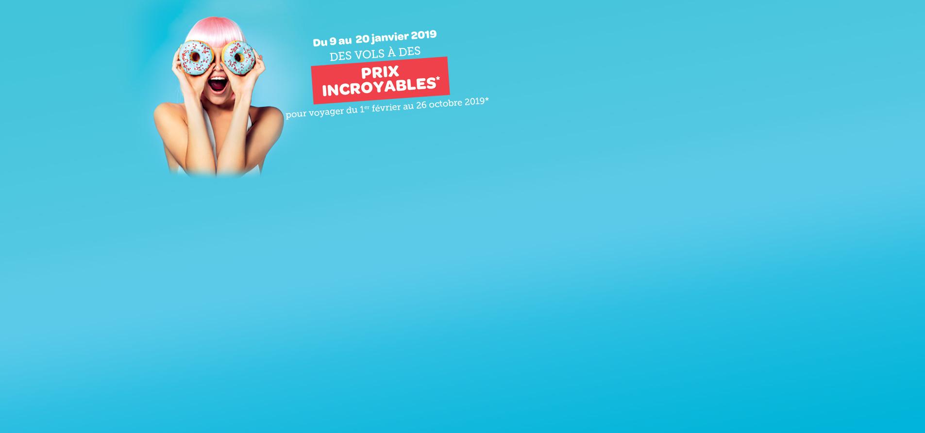 Les prix incroyables d'Air Corsica du 9 au 20 janvier 2019